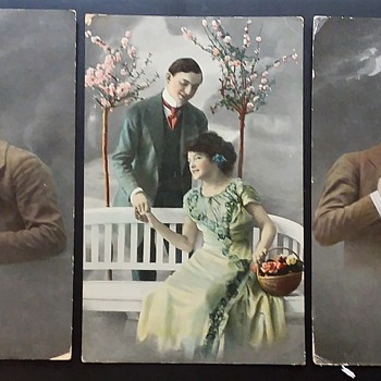 Three couples - Postcards