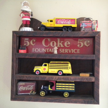 Hand crafted Coca-Cola shelf - Advertising