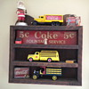 Hand crafted Coca-Cola shelf