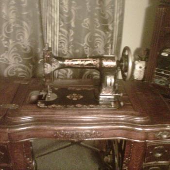 White Family Rotary treadle Sewing Machine  - Sewing