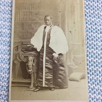 1880 Samuel Ajayi Crowther Slave Bishop Ernest Edwards CDV Photograph Antique - Photographs
