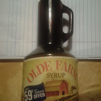 olde farm syrup bottle - Bottles