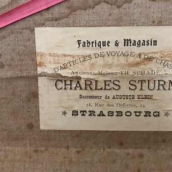 Trunk owned by mathematician, Charles Sturm