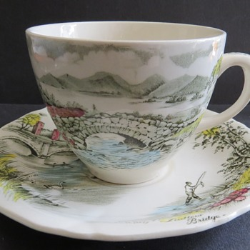 Alfred Meakin Cup and Saucer - English Bridges Pattern - China and Dinnerware