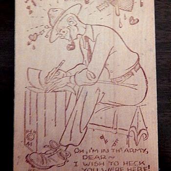 Wood Postcard WW2 era - Postcards