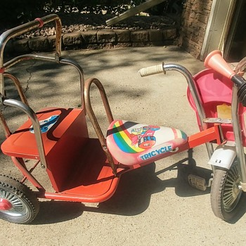 Old Two Seater Tricycle - Toys