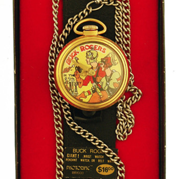 Buck Rogers Pocket watch with Wrist strap; in box. - Pocket Watches