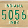 1982 - Motorcycle License Plate (Indiana)