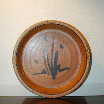 Stoneware Charger Signed Burkett - Pottery