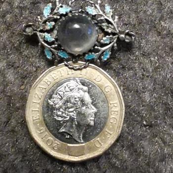 Kate Eadie Enamel Silver Brooch - Fine Jewelry