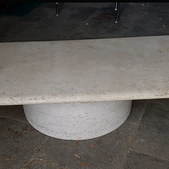 Mid Century Traverline Table - designer ? - Mid-Century Modern