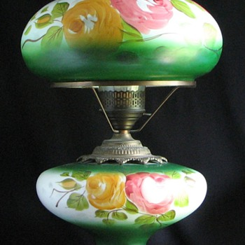 1960s GWTH Hand Painted Table Lamp - Lamps