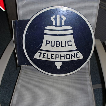 Vintage Bell System Payphone Sign - Telephones
