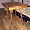 Antique Oak Wood Side Table-Unique?