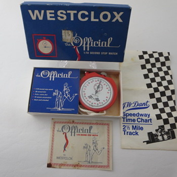 Westclox Official 1/10 Second Stop Watch - Pocket Watches