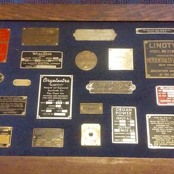 metal NAMEPLATES, from assorted things?! :-) - Advertising