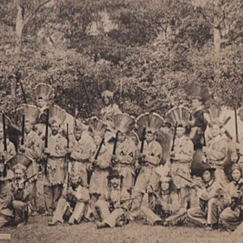 The Earliest Reenactors?  Fake Indians in Full Regalia Photograph Collection Jim Linderman - Native American