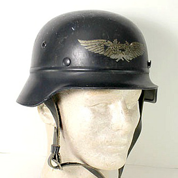 WW2 German Luftschutz helmet 1940s - Military and Wartime