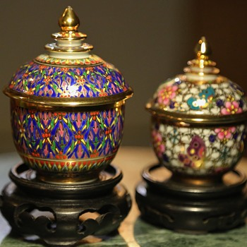 Bencharong - Thai Covered Vessels - Pottery