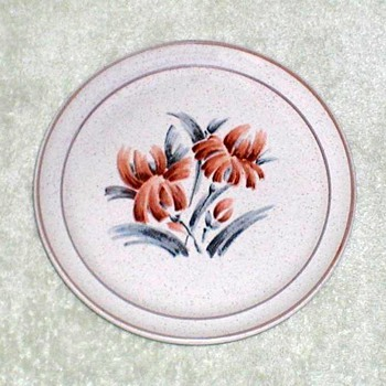 Stoneware Plate with Floral Design - China and Dinnerware