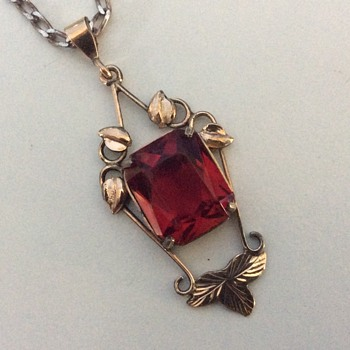 Ruby faced garnet pendant - Fine Jewelry