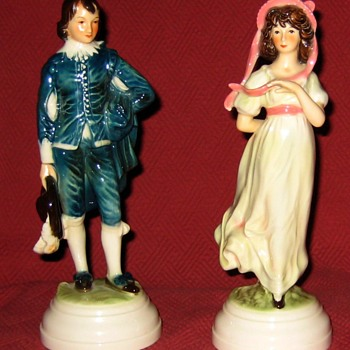 Goebel The Blueboy and Pinkie Porcelain Figurines - Figurines