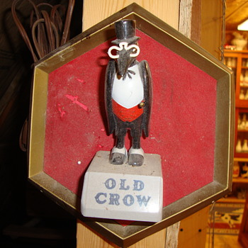 Old Crow Whiskey Wall Plaque.......