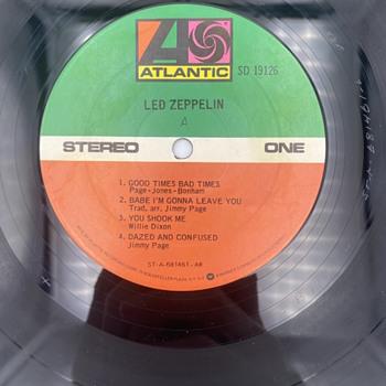 Led Zeppelin I Vinyl runoff  - Records