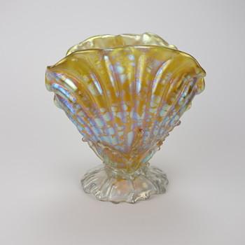 Loetz Candia Papillon Clam Shell Vase - Art Glass