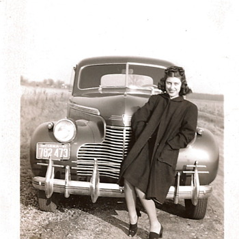 Moms and Their Cars - c.1941 and c.1943 - Photographs