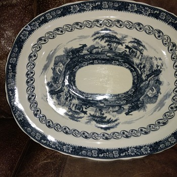 Large transfer ware platter  - China and Dinnerware