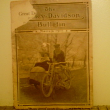 The Harley Davidson Bulletin March 1914 - Motorcycles