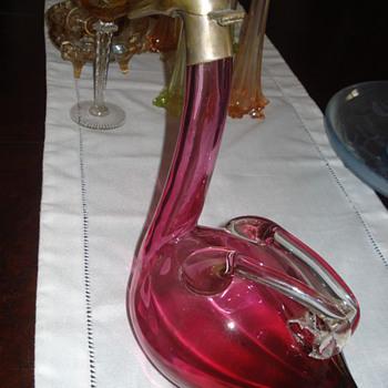 Austrian Goose Glass Decanter made by Palda Haida - Art Glass