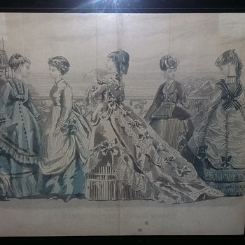 1869 peterson ladies magazine fold outs - Fine Art