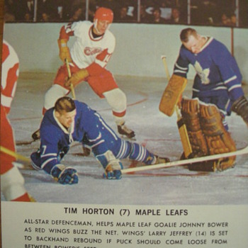 1960 Game Action Shots with Description - Hockey