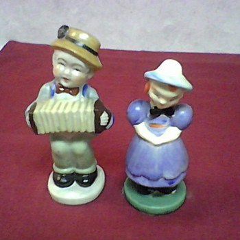 VINTAGE OCCUPIED JAPAN FIGURINES - Pottery