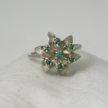 Floral Turquoise Ring - Fine Jewelry