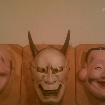 Japanese Masks from my grandfather - Asian