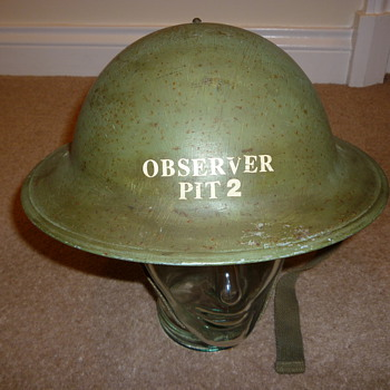 British WW11 Observer Corps helmet - Military and Wartime