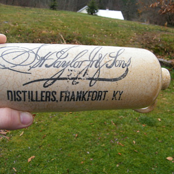"Only Known ""Old Taylor"" E.H. Taylor & Sons, Frankfort Kentucky, Whiskey Crock. - Bottles"