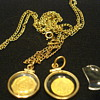 12KT Gold Chain with Pendants