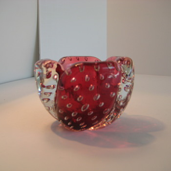 Small red Murano bowl - Art Glass