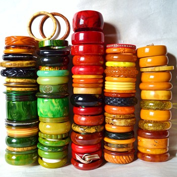 My bakelite bangle collection  - Costume Jewelry