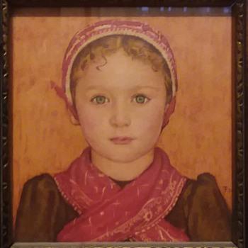 """""""Amsterdam Girl"""" small watercolor - Fine Art"""