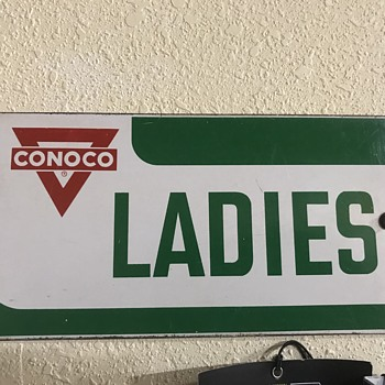 Original Conoco bath rooms signs  - Petroliana