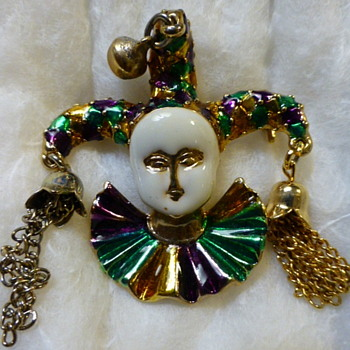 Court Jester brooch - Costume Jewelry