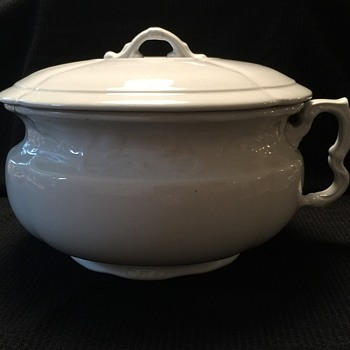 Antique J&G Meakin Ironston China Chamber Pot - Pottery