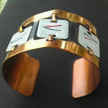 Mod copper cuff bracelet