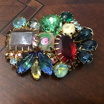 Colorful brooch - Costume Jewelry