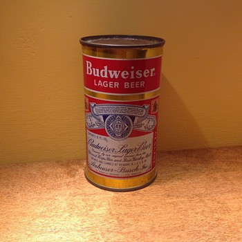 Budweiser beer can - Breweriana